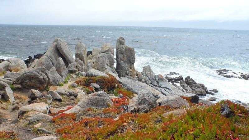Rochas da costa de Monterey imagens de stock royalty free