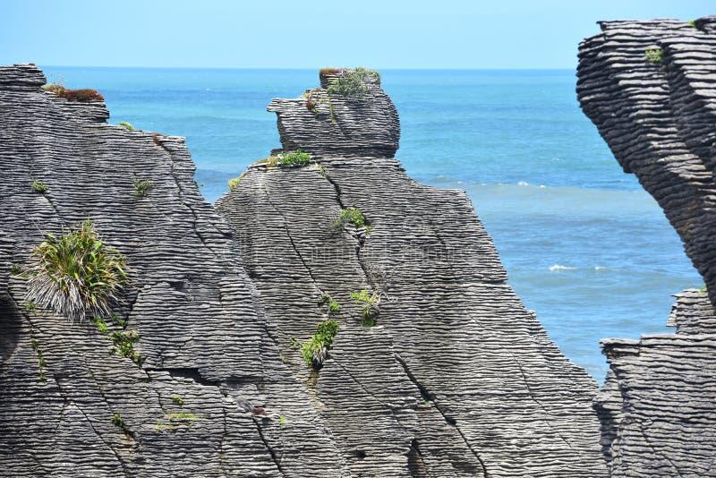Rochas da panqueca de Punakaiki, Nova Zelândia imagens de stock royalty free
