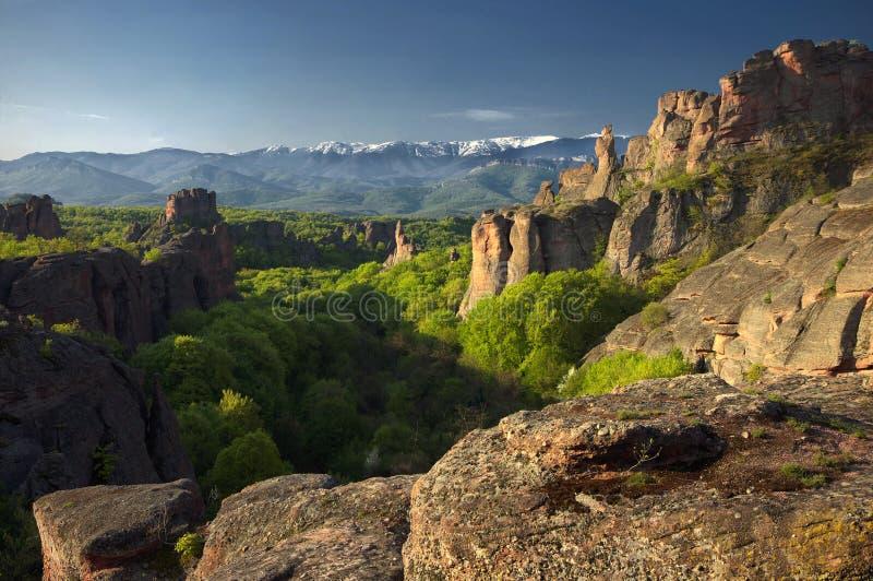 Rochas de Belogradchik, Bulgária imagem de stock royalty free