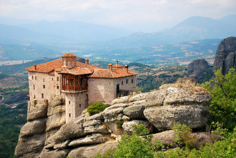 Rochas de Meteora, Greece foto de stock royalty free