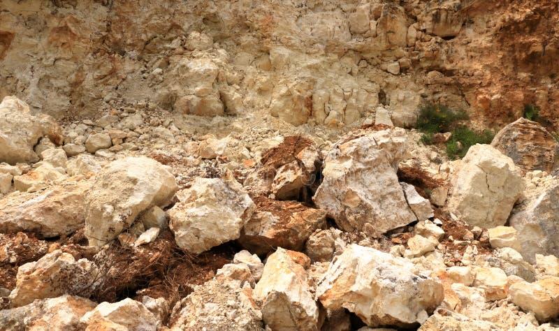 Rochas de queda do perigo na Creta, Grécia, Europa imagem de stock royalty free