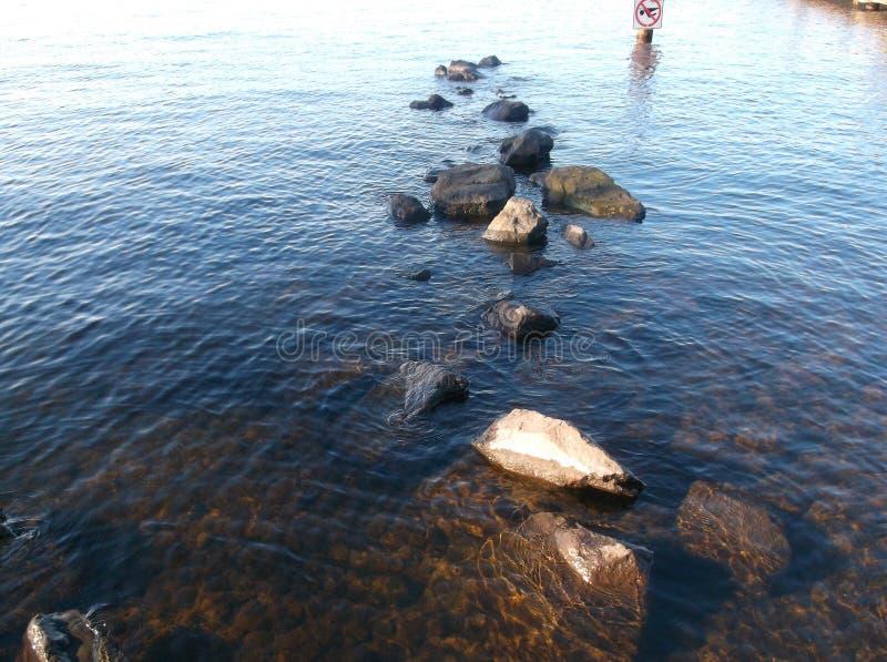 Rochas do lago imagem de stock royalty free