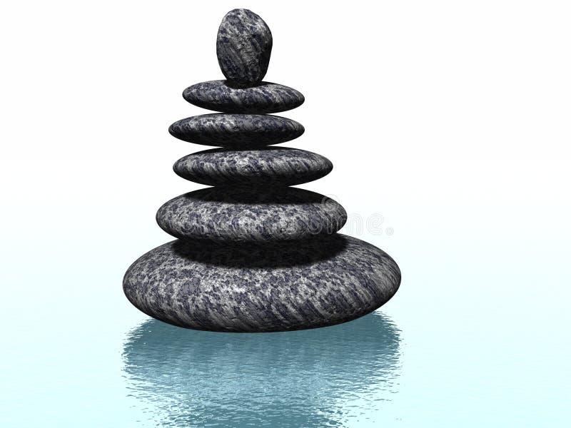 Rochas do zen ilustração stock
