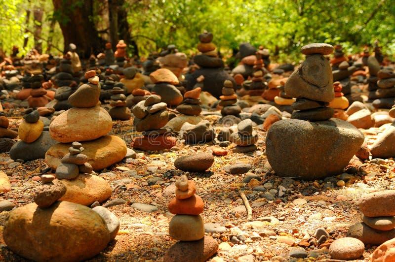 Rochas do zen fotografia de stock