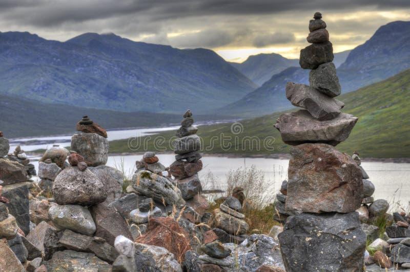 Rochas dos sonhos em Escócia foto de stock royalty free