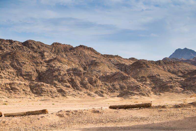 Rochas e montanhas no deserto, Egito imagens de stock royalty free