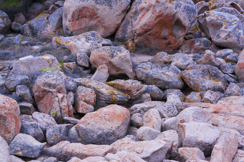 Rochas e pedregulhos imagens de stock