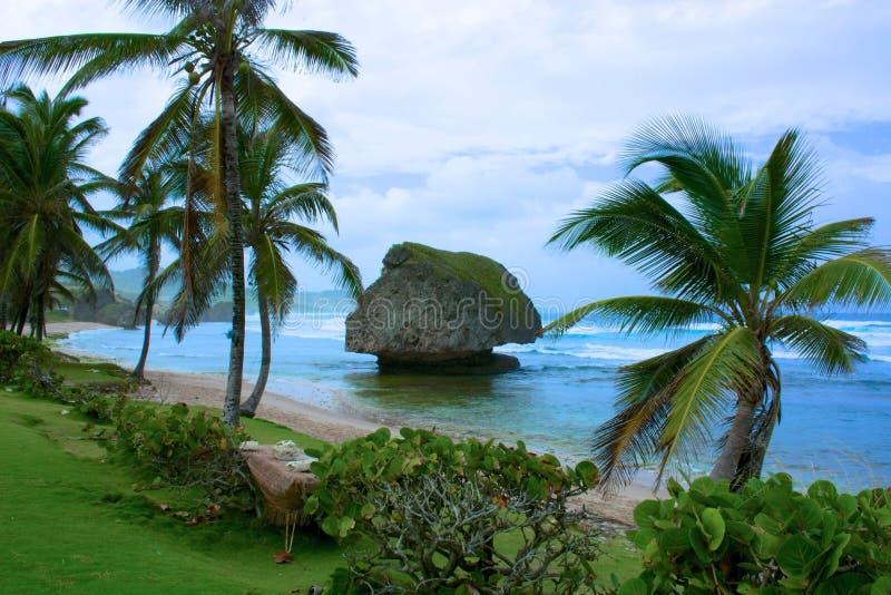 Rochas em Bathscape, Barbados fotos de stock royalty free