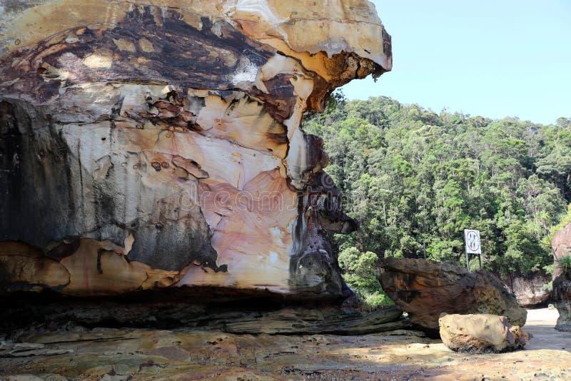 Rochas impressionantes - parque nacional de Bako, Sarawak, Bornéu, Malásia, Ásia foto de stock