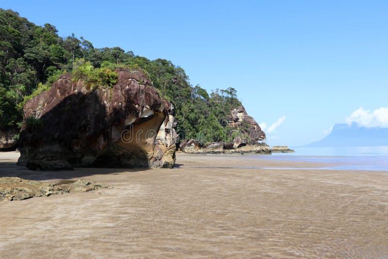 Rochas impressionantes - parque nacional de Bako, Sarawak, Bornéu, Malásia, Ásia fotos de stock royalty free