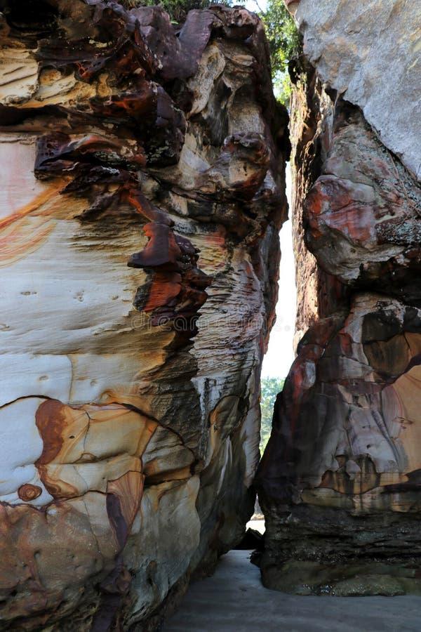 Rochas impressionantes - parque nacional de Bako, Sarawak, Bornéu, Malásia, Ásia fotografia de stock