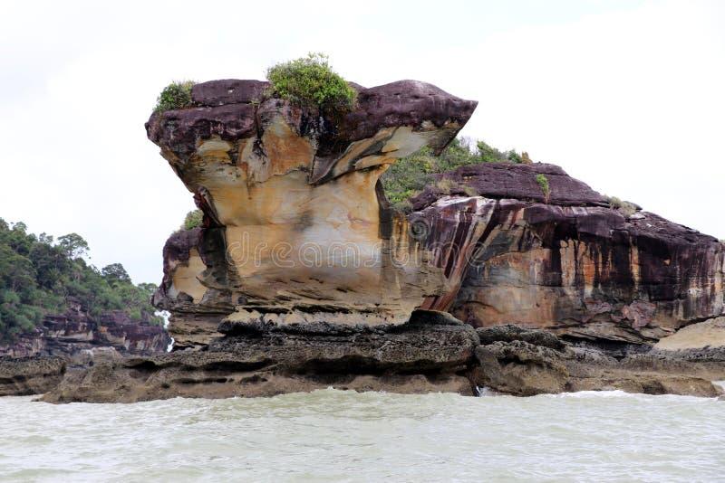 Rochas impressionantes - parque nacional de Bako, Sarawak, Bornéu, Malásia, Ásia fotos de stock