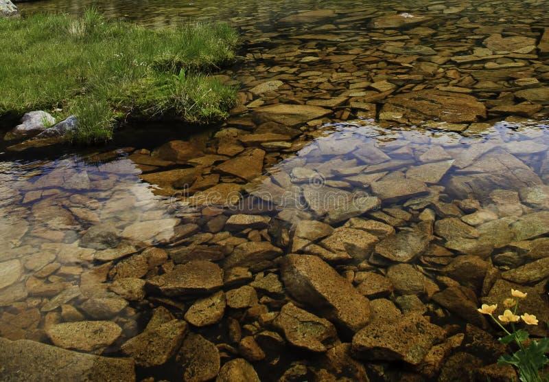 Rochas na água imagem de stock