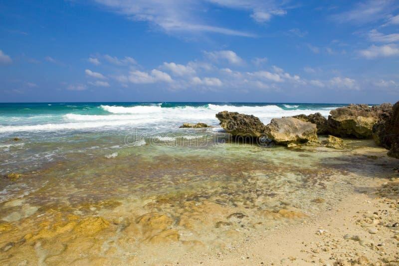 Rochas no oceano. México. fotos de stock