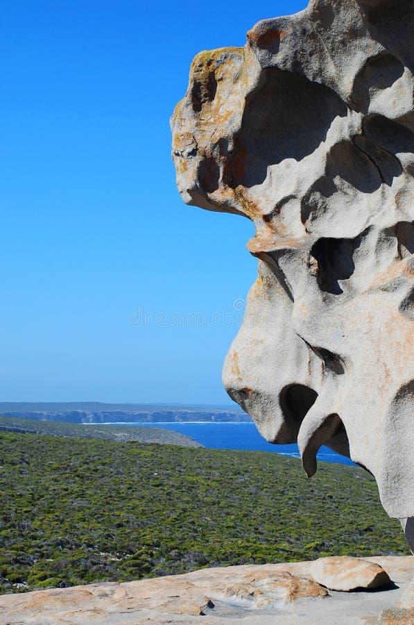 Rochas notáveis, parque nacional da perseguição do Flinders Ilha do canguru, Sul da Austrália foto de stock