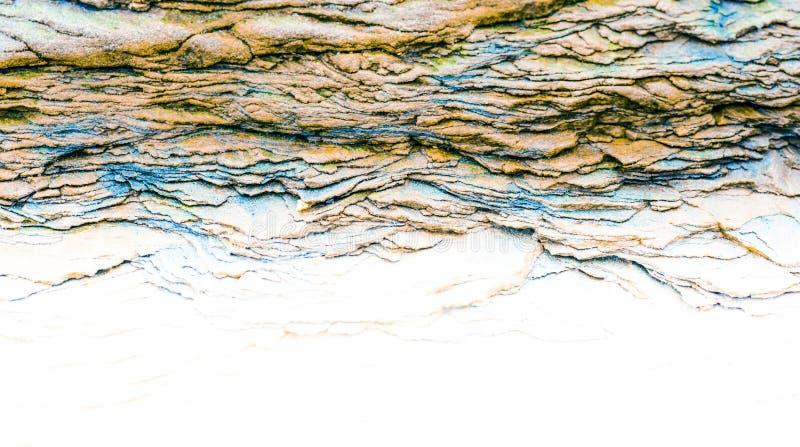 Rochas sedimentares - camadas coloridas da rocha formadas com a cementação e o depósito - fundos do projeto gráfico do sumário, imagem de stock