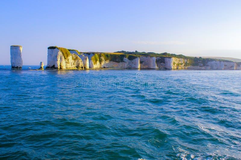 Rochas velhas de Harry Penhascos de giz em Dorset, Inglaterra do sul imagem de stock