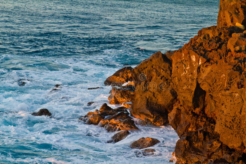 Rochas vermelhas na ilha grande no ponto sul foto de stock royalty free