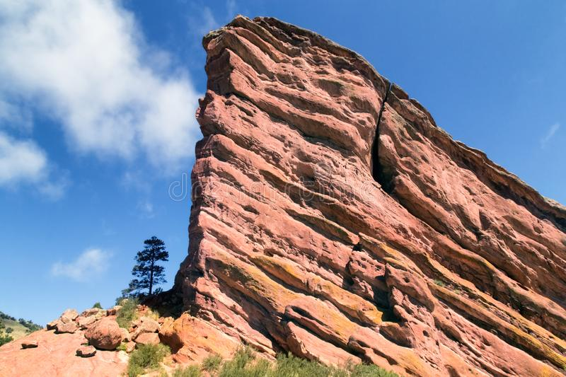 Rochas vermelhas perto de Denver, Colorado EUA fotografia de stock