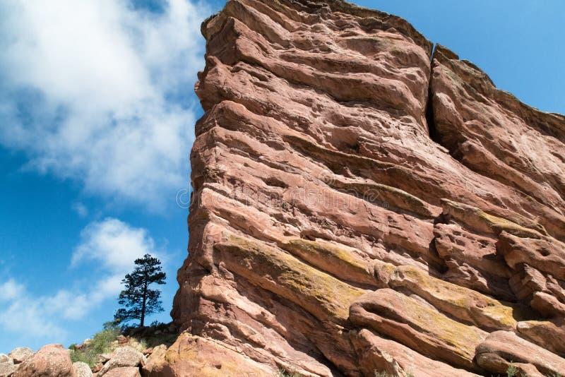 Rochas vermelhas perto de Denver, Colorado EUA foto de stock
