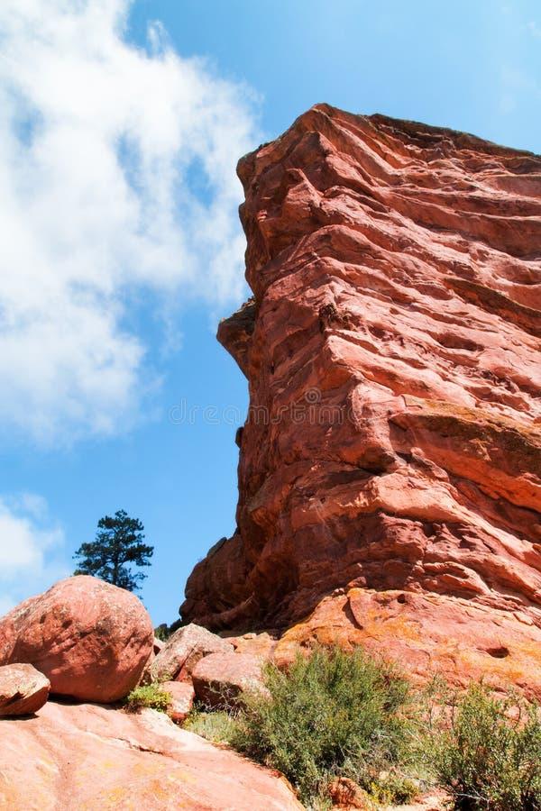 Rochas vermelhas perto de Denver, Colorado EUA fotos de stock