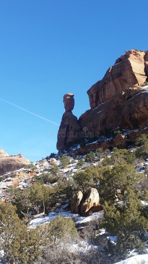 Roche équilibrée, dans le Colorado photographie stock libre de droits