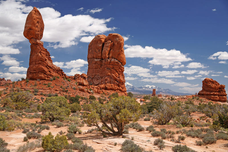 Roche équilibrée dans les voûtes parc national, Utah, Etats-Unis photo libre de droits