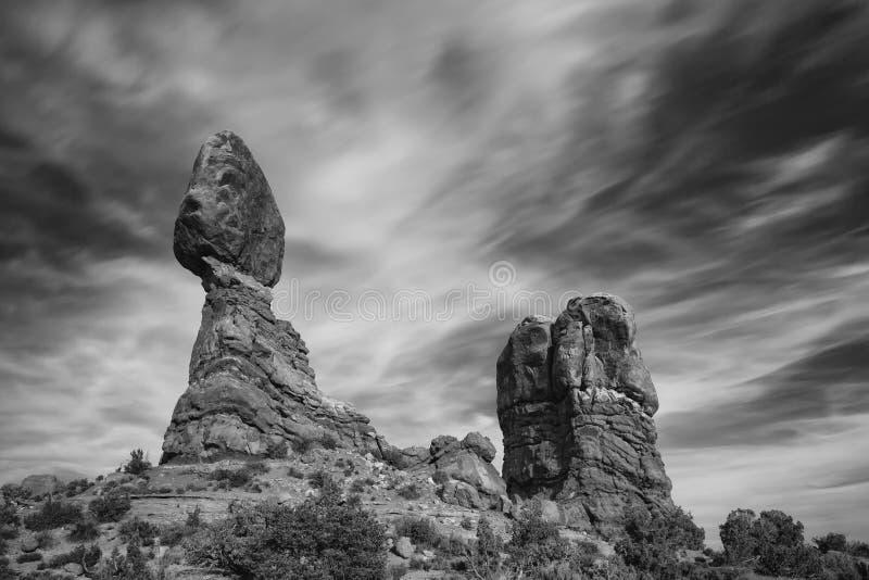 Roche équilibrée en parc national de voûtes près de Moab, Utah photos libres de droits