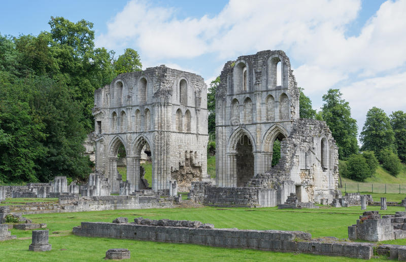 Roche Abbey, Maltby, Rotherham, England. The Ruins of Roche Abbey in Maltby, Rotherham, England royalty free stock images