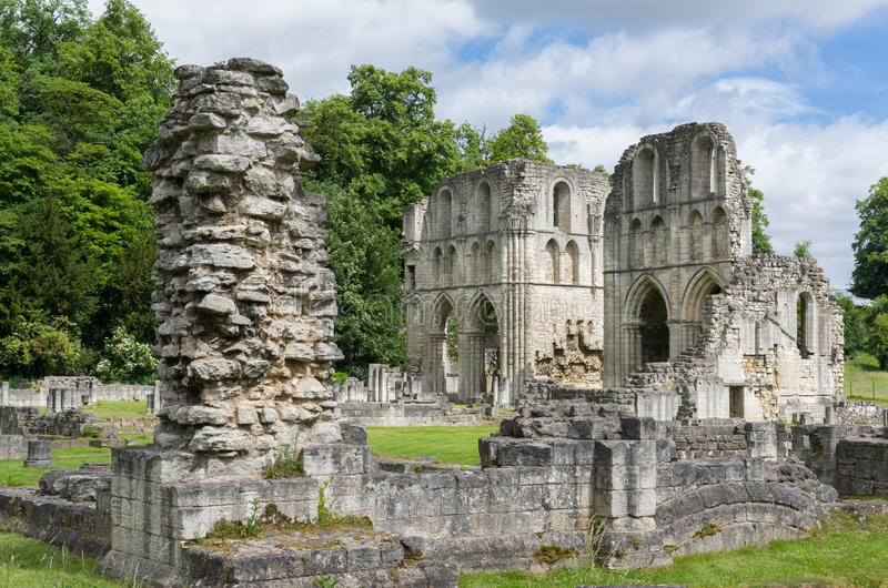 Roche Abbey, Maltby, Rotherham, England stock photos