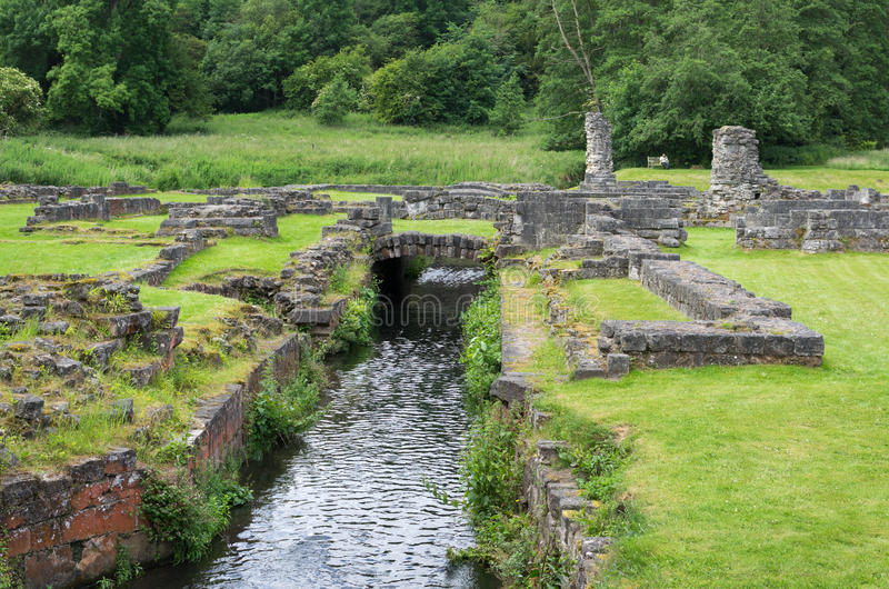 Roche Abbey, Maltby, Rotherham, England. The Ruins of Roche Abbey in Maltby, Rotherham, England stock image