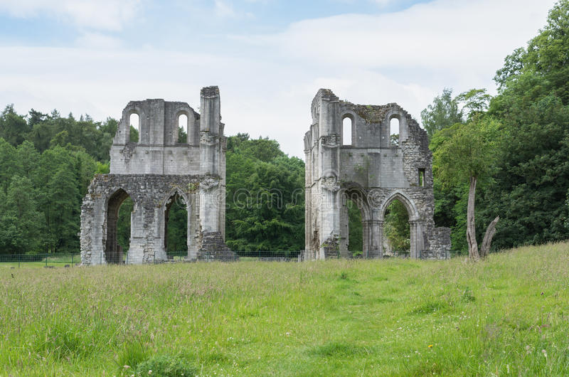 Roche Abbey, Maltby, Rotherham, England. The Ruins of Roche Abbey in Maltby, Rotherham, England stock photo