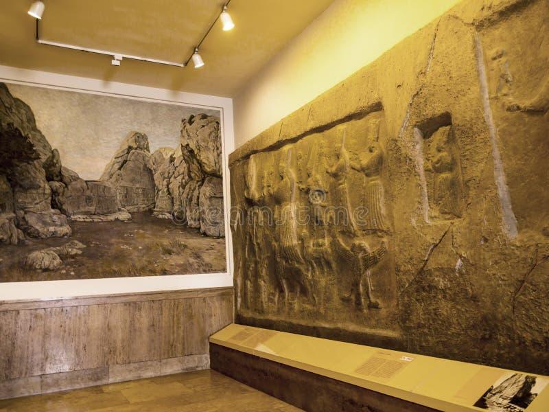 Roche découpant de Moyen-Orient dans le musée en Berlin Germany photo stock