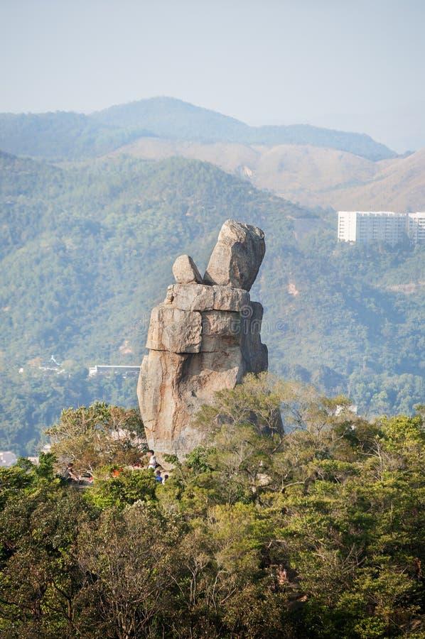 Roche d'Amah en parc de pays de Lion Rock, Hong Kong photo libre de droits