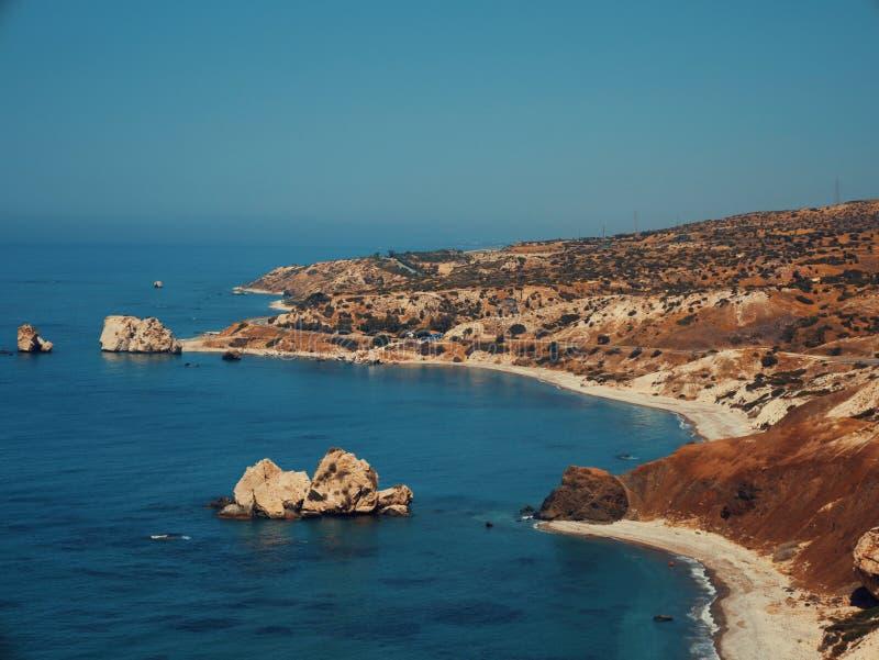 Roche d'Aphrodite, Chypre photos libres de droits