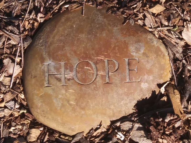 Roche d'espoir photo stock