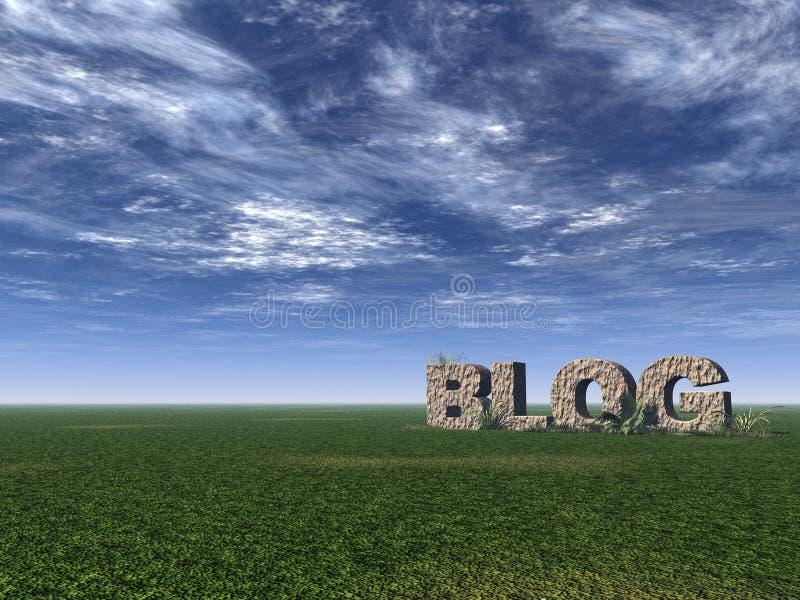 Roche de blog illustration libre de droits