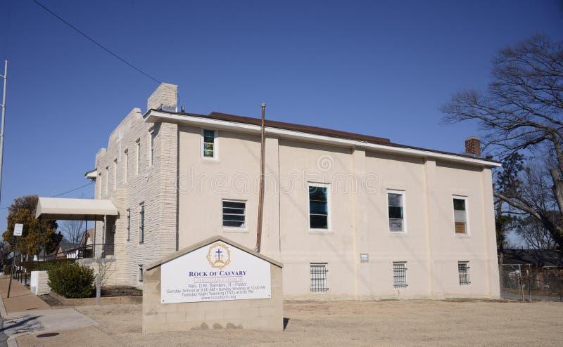 Roche de calvaire Christian Church Memphis, TN photo stock