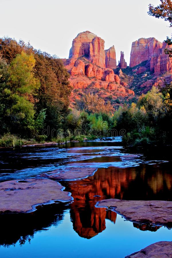 Roche De Cathédrale, Sedona Arizona Photos stock