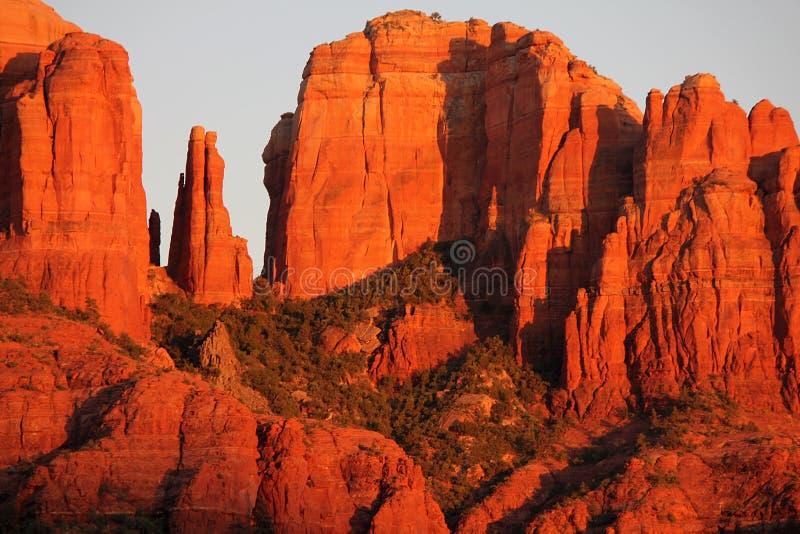 Roche de cathédrale, Sedona, AZ photographie stock libre de droits