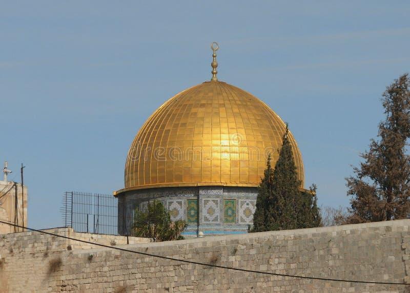 roche de l'Israël Jérusalem de dôme images stock