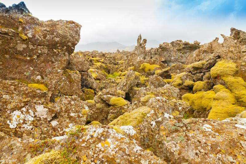 Roche de lave en Islande photographie stock libre de droits