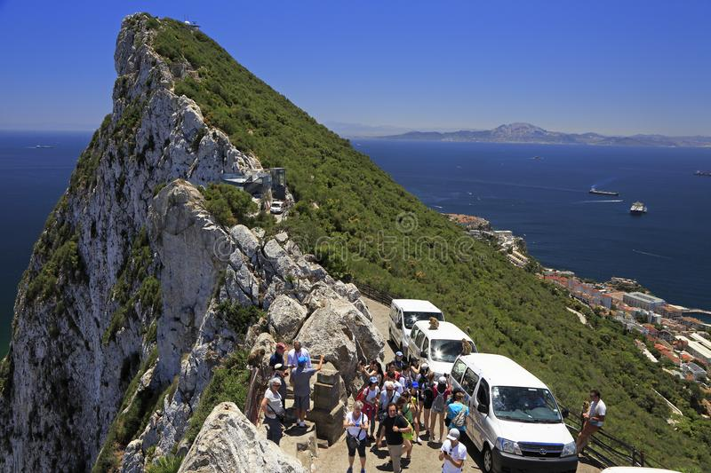 Roche du Gibraltar, Afrique photo libre de droits