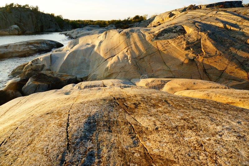 Roche en place de Stangnes la roche la plus ancienne en Norvège photos stock