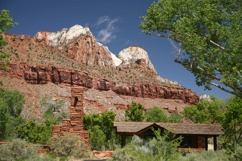 Roche en Zion National Park, Utah, Etats-Unis images libres de droits