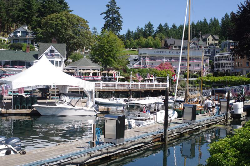 Roche Harbor in  Washington state royalty free stock image
