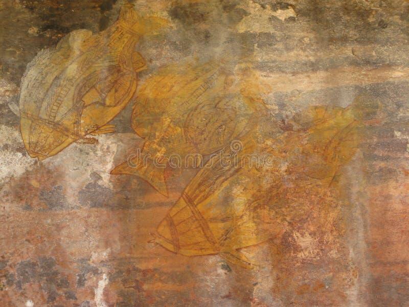 roche indigène de peintures image libre de droits