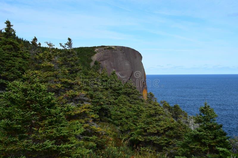 Roche principale rouge Flatrock de côte de Killick images libres de droits