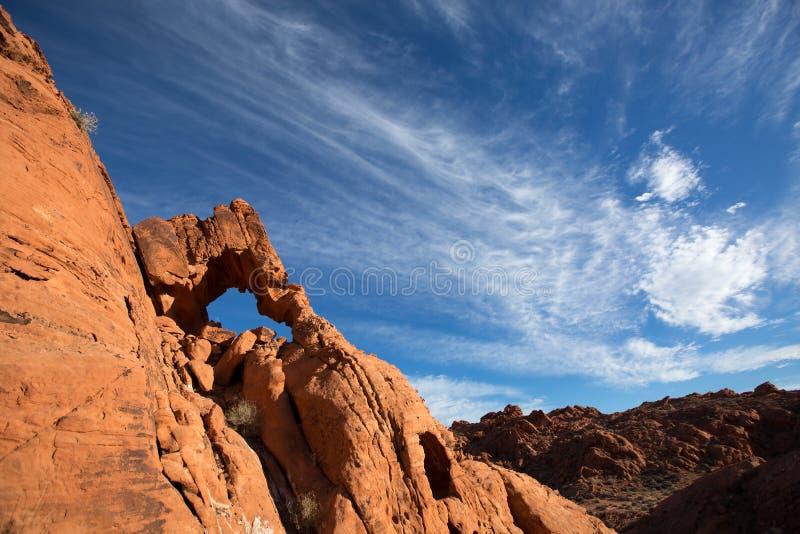 roche rouge érodée photographie stock