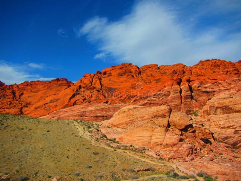 Roche rouge Montain, canyon rouge Nevada de roche images libres de droits